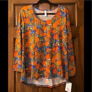 NEW LuLaRoe Lynnae - Orange and Blue Floral